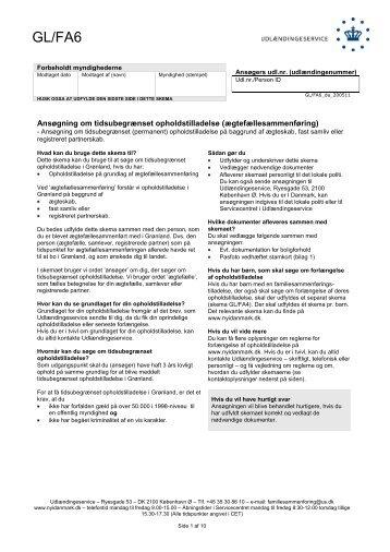 GL/FA6 - Ny i Danmark