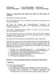 27.01.10 Gemeinsamer Antrag Umsetzung ... - SPD Siegen