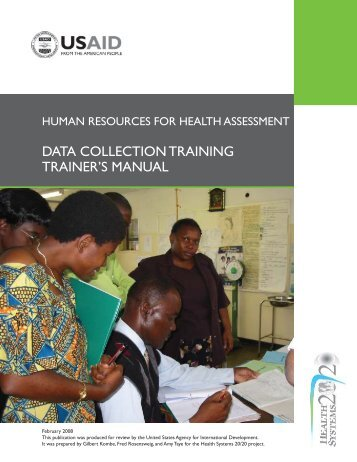 data collection training trainer's manual - Health Systems 20/20