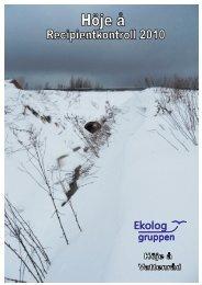 Årsrapport för 2010 - Höje å vattenråd