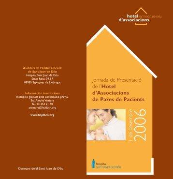 fullet hotel HSJD català - Asociación Catalana del Síndrome de Rett.