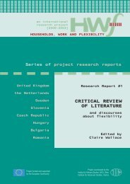 CRITICAL REVIEW OF LITERATURE - HWF