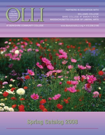 Spring Catalog 2008 - BerkshireOLLI.org