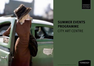 City Art Centre Events Programme Summer 2013 - Edinburgh ...