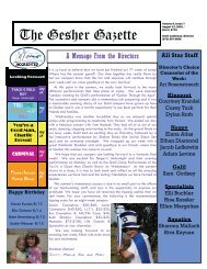 Issue 7 - August 13, 2010 - Gesher Summer Camp