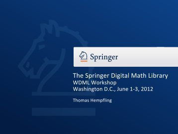 Publish with Springer