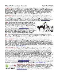 Office of Student Services E-Newsletter - September 24, 2010