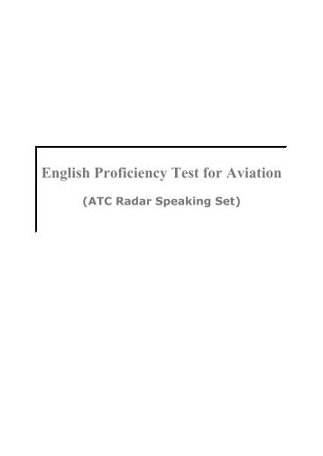 English Proficiency Test for Aviation