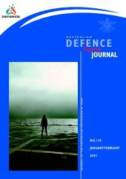 ISSUE 158 : Jan/Feb - 2003 - Australian Defence Force Journal