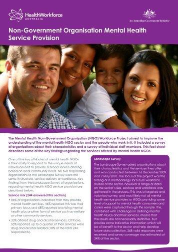 Non-Government Organisation Mental Health Service Provision (.pdf)