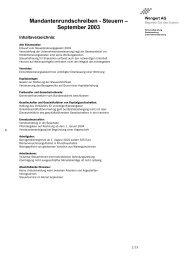 Mandantenrundschreiben Steuern September 2003 - Wengert Gruppe