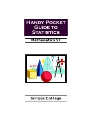Handy Pocket Guide to Statistics 1999LARGE.pub - Scripps College