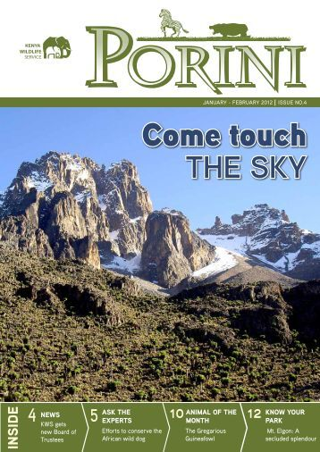 Porini Issue No.4 January- February 2012 - Kenya Wildlife Service