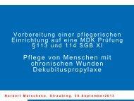 Vortragspräsentation - Zimmermann Vital in Straubing