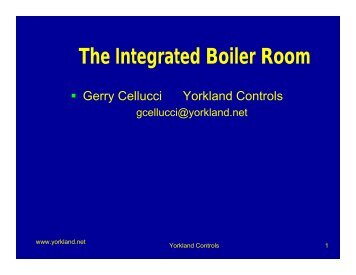 The Integrated Boiler Room - Yorkland Controls