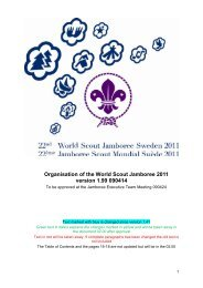Organisation of the World Scout Jamboree 2011 ... - Spejdernet