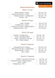 Mixed Floorball Fixtures Round 1 (30th July) Round 2 (13th August ...