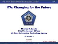 ITA: Changing for the Future - AFCEA Belvoir
