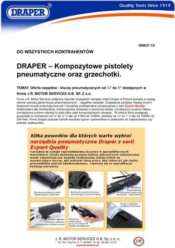 DRAPER – Kompozytowe pistolety pneumatyczne oraz ... - MotoFocus