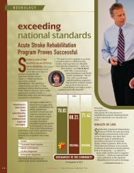 exceeding national standards - Southeast Hospital