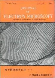 Front Matter (PDF) - Journal of Electron Microscopy