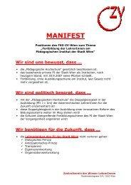 MANIFEST - Zentralverein der Wiener Lehrerschaft