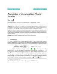 Asymptotics of several-partition Hurwitz numbers - Discrete ...