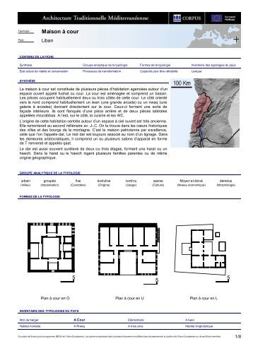 Typologie for Architecture maison traditionnelle libanaise
