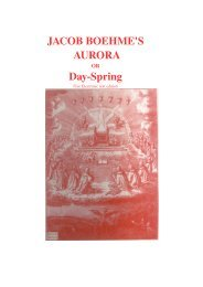 JACOB BOEHME'S AURORA Day­Spring