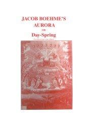 JACOB BOEHME'S AURORA DaySpring