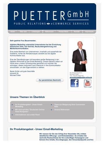 Puetter - newsletter - Puetter GmbH