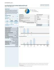Jarislowsky Fraser Select Balanced Fund - Jarislowsky, Fraser Limited