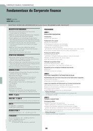 Fondamentaux du Corporate finance - OVH.net