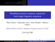 Modelling semantic property acquisition from single ... - clic-cimec