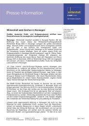 Wintershall setzt Zeichen in Norwegen - Wintershall AG