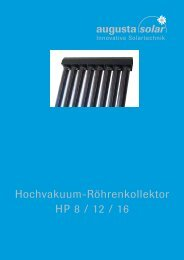 Hochvakuum-Röhrenkollektor HP 8 / 12 / 16 - solvere