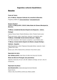 Sugestões culturais Quadrilátero Barcelos