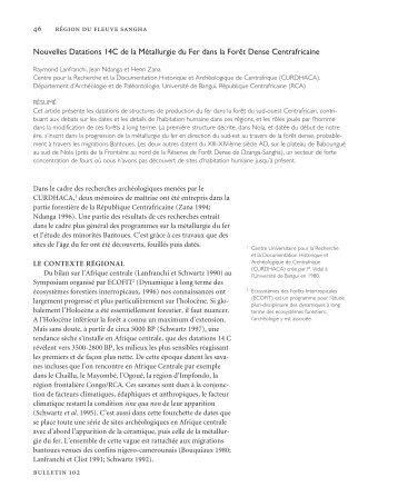 Nouvelles Datations 14C de la Métallurgie du Fer dans la Forêt ...