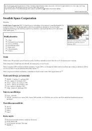 Swedish Space Corporation - Wikipedia - 3 aug 2012 - uppsagd
