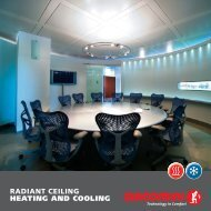 RADIANT CEILING HEATING AND COOLING - Giacomini SpA