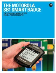 SB1 Smart Badge Brochure - Motorola Solutions