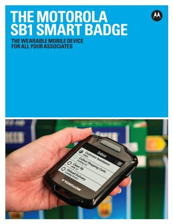 SB1 Smart Badge Brochure - Motorola Solutions