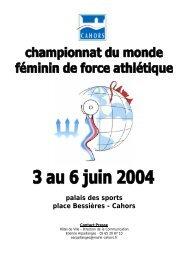 Championnat du monde de force athlétique - Cahors