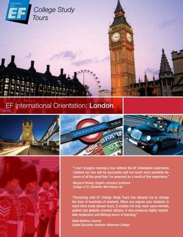 EF International Orientation: London - EF College Study Tours