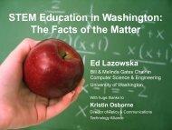 STEM Education in Washington - Ed Lazowska - University of ...