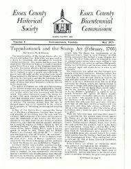 Bulletin Vol 8 - Essex County Museum