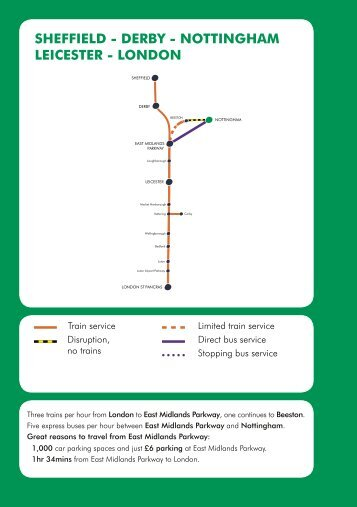Southbound services satur for Timetable 85 sheffield