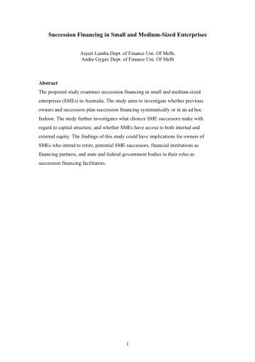 financing small and medium enterprises Wwwajbmsorg asian journal of business and management sciences issn: 2047-2528 vol 2 no 9 [17-23.