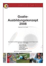 Goalie- Ausbildungskonzept 2008 SPORTCLUB CHAM ... - SC Cham