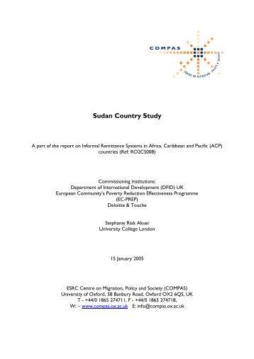 Sudan - COMPAS - University of Oxford